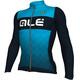 Alé Cycling R-EV1 Rumbles LS Jersey Men Navy-Light Blue